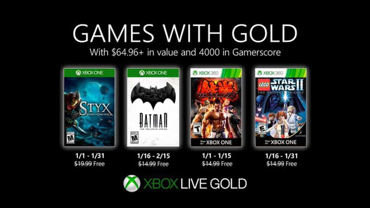 Xbox Games With Gold January 2020