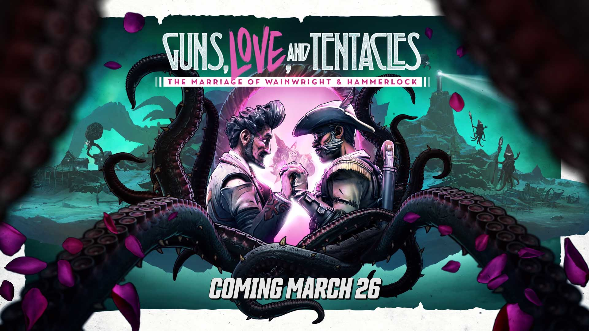 Borderlands 3 DLC Steam Epic games Store Guns, Love and Tentacles - The Marriage of Wainwright and Hammerlock