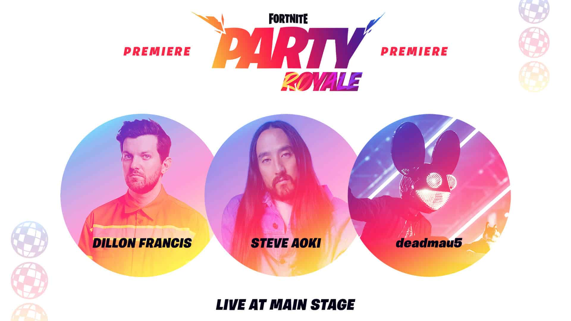 Fortnite Party Royale to Feature Dillon Francis, Steve Aoki, and deadmau5 Concerts