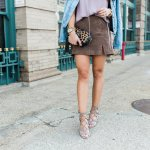 a spring suede skirt