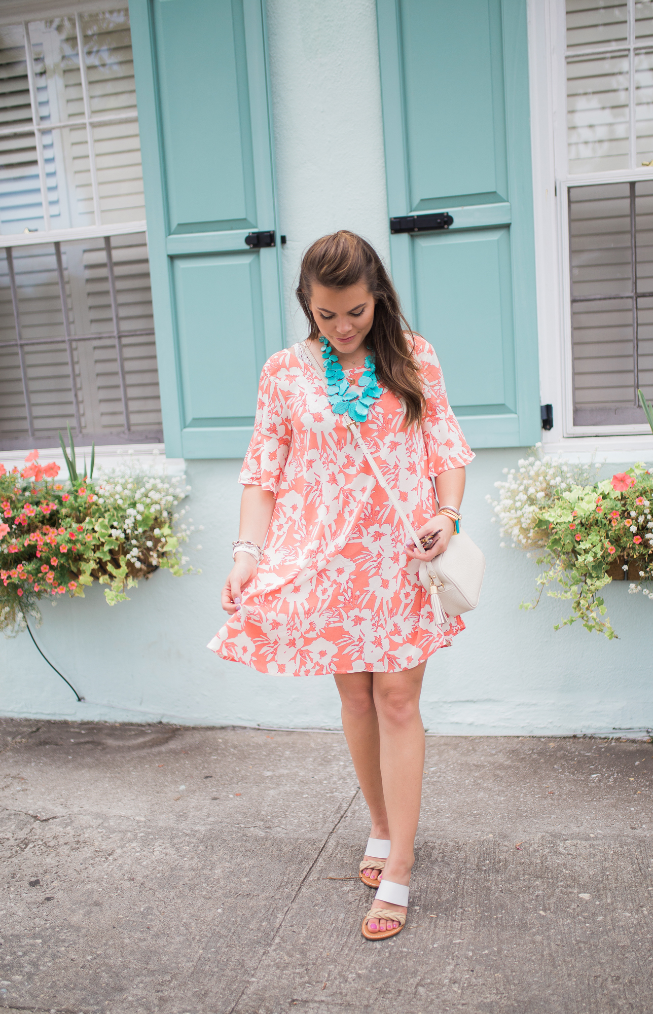 Orange Floral Dress / Easy Summer Style