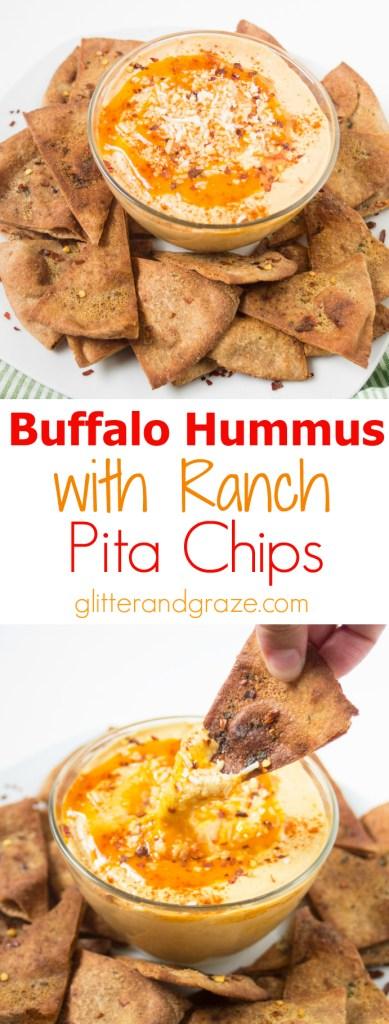 buffalo hummus with ranch pita chips