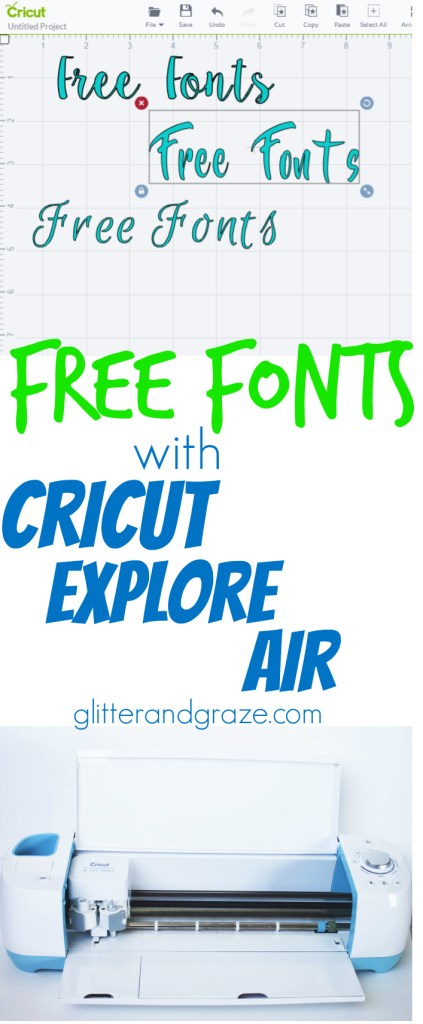 free fonts cricut explore air
