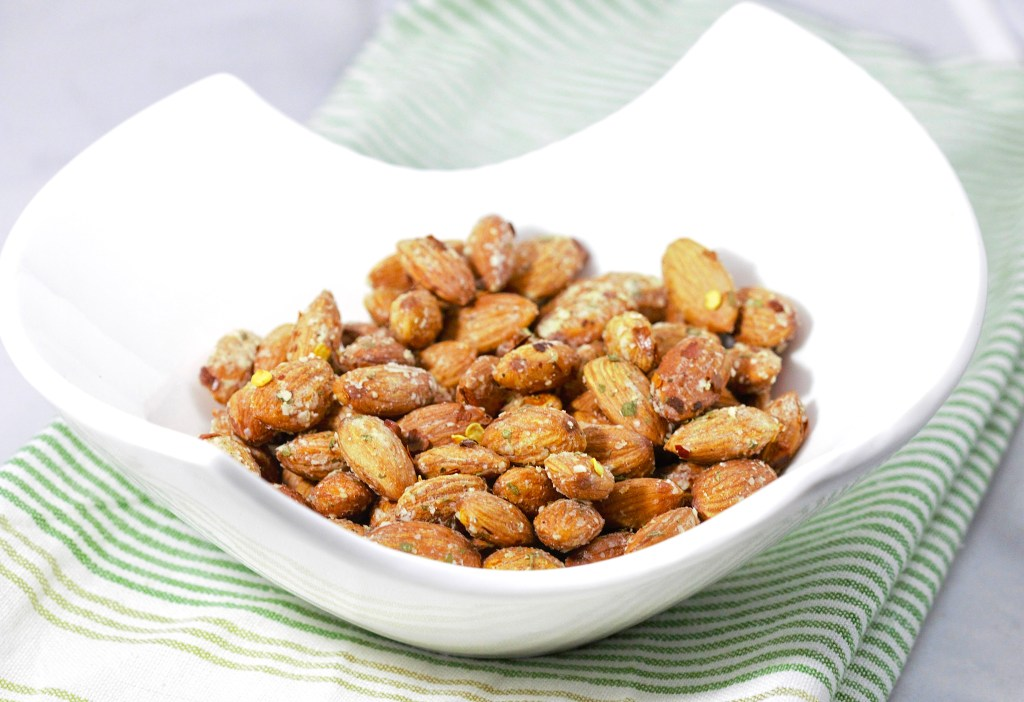 spicy Parmesan ranch almonds