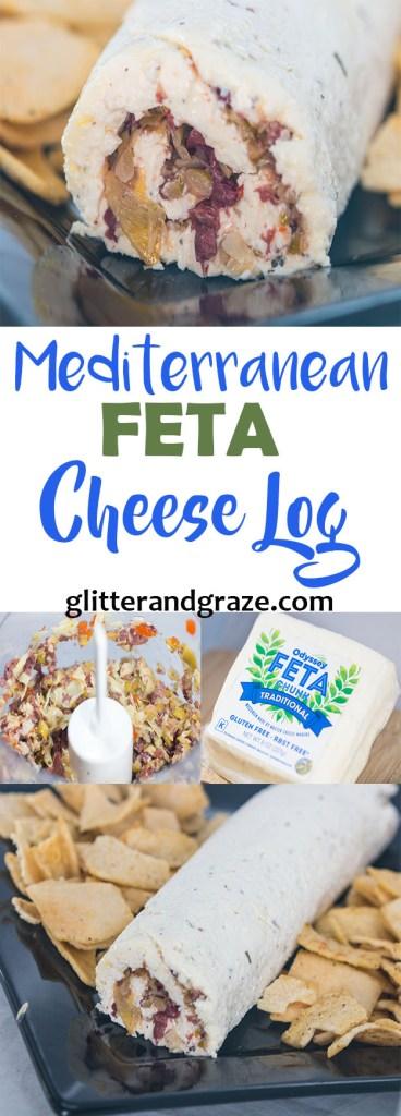 Mediterranean Feta Cheese Log
