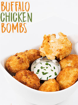 buffalo chicken bombs