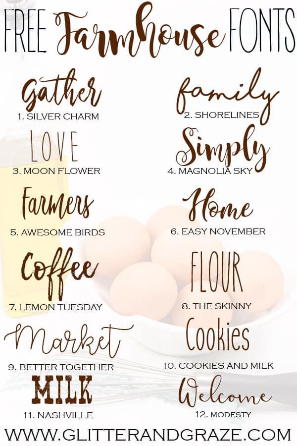 free farmhouse fonts