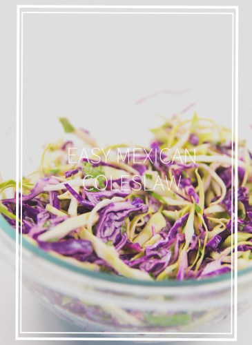 faded picture with title of red and green cabbage mexican coleslaw