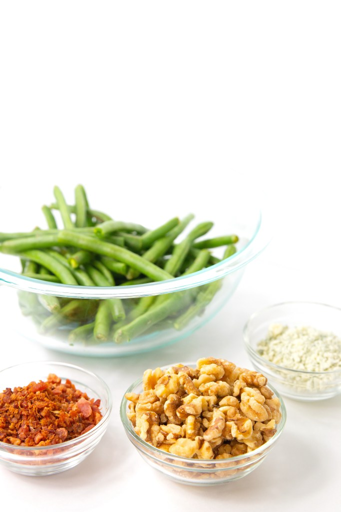 Green Beans with Bacon, Blue Cheese, and Walnuts