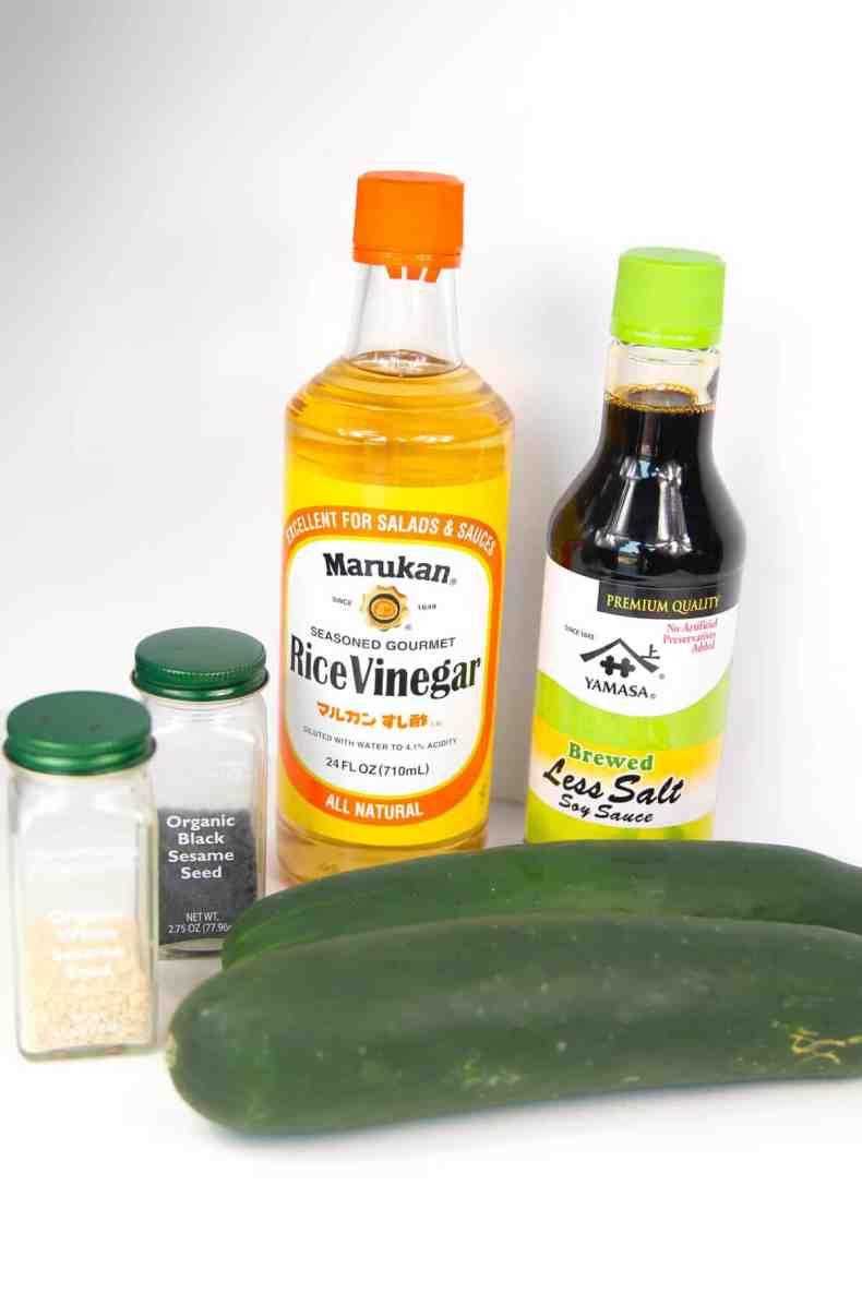 Japanese cucumber salad ingredients