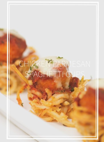 popcorn chicken with sauce and cheese on top of a bowl made of spaghetti on a white plate