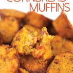 crawfish cornbread muffins with title
