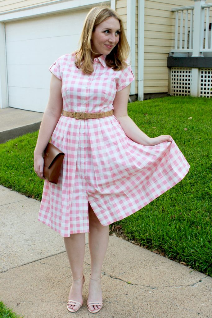 Pink Gingham Dress Glitter Amp Spice