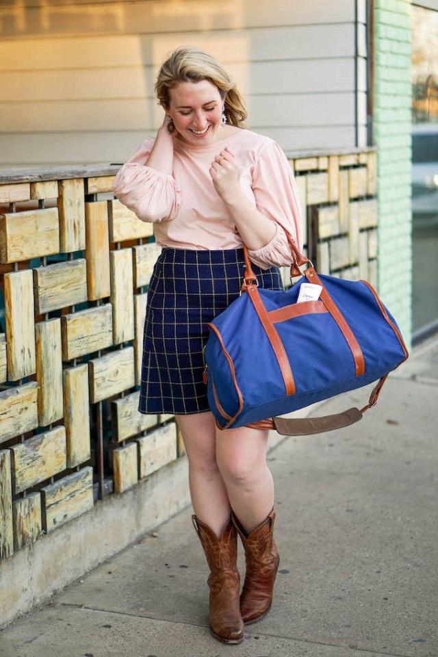 Widowpane Print Mini Skirt