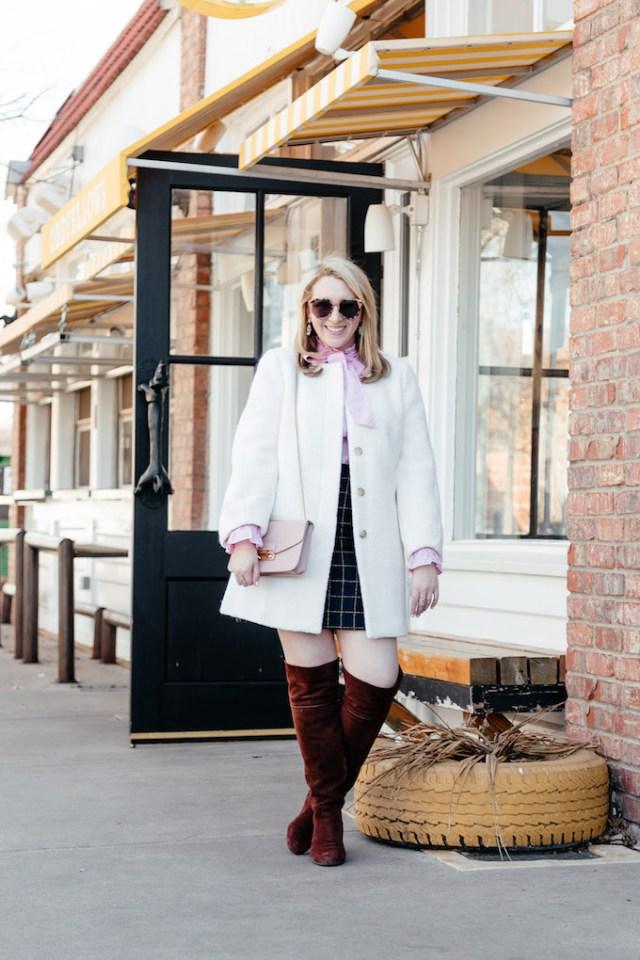 LOFT Blouson Coat, white coat for spring