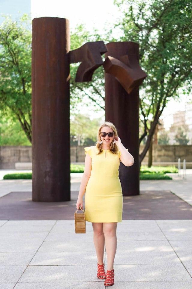 Ann Taylor Flutter Sheath Dress, Best Yellow Dresses for Work