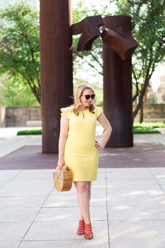 Best Summer Work Dresses, What to Wear to Work in Summer in Texas, How to Wear a Keyhole Neckline to Work, Cute Work Dress for Summer