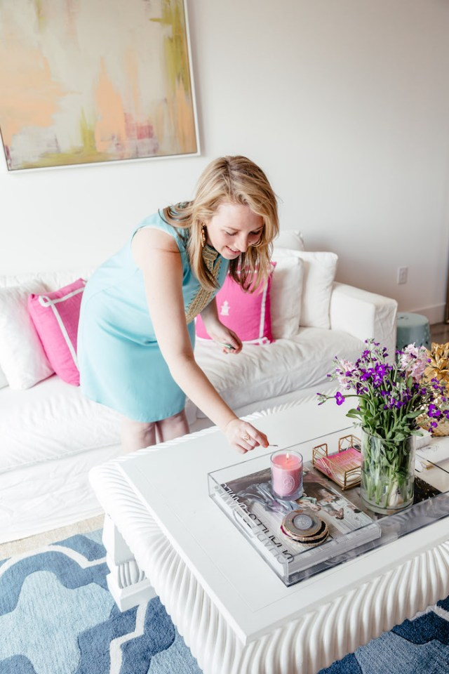 Feminine Apartment Tour + Mother's Day with Greenleaf, How to Add Feminine Touches to a Room, Girly Living Room Ideas for Apartments