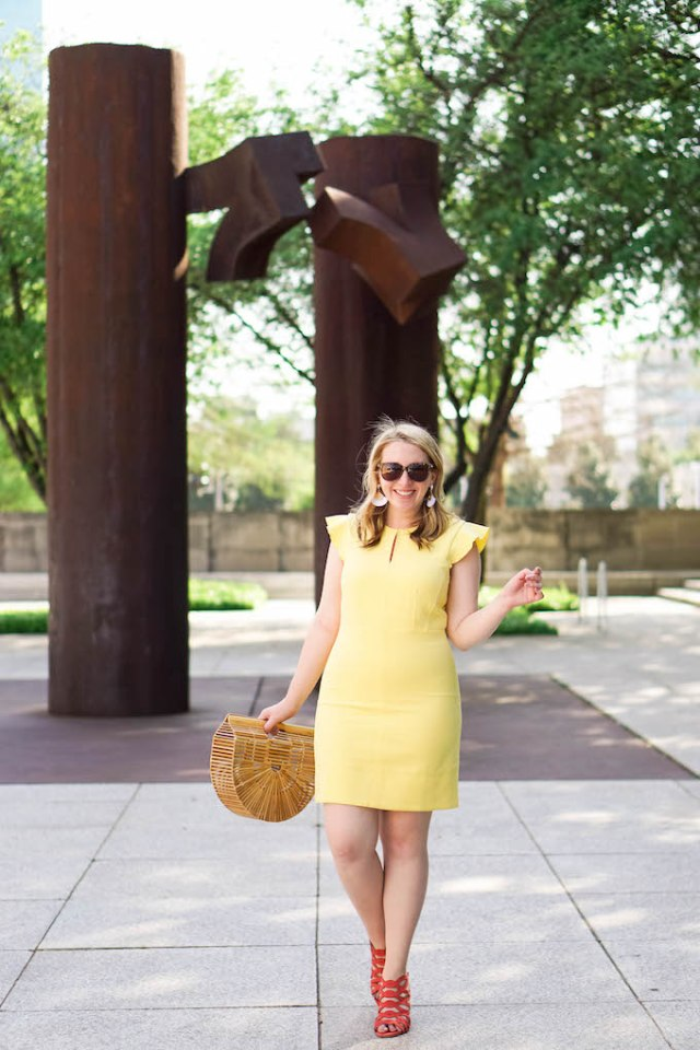How to Find a Blog Photographer, Yellow Work Dress for Summer