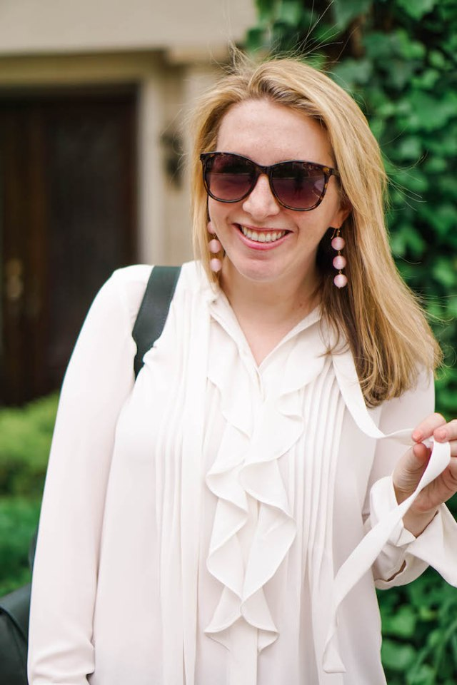 Sugarfix by BaubleBar earrings, Ann Taylor sunglasses, Tortoiseshell Butterfly Sunglasses