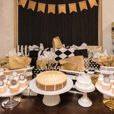 Black and Gold 30th Birthday Celebration