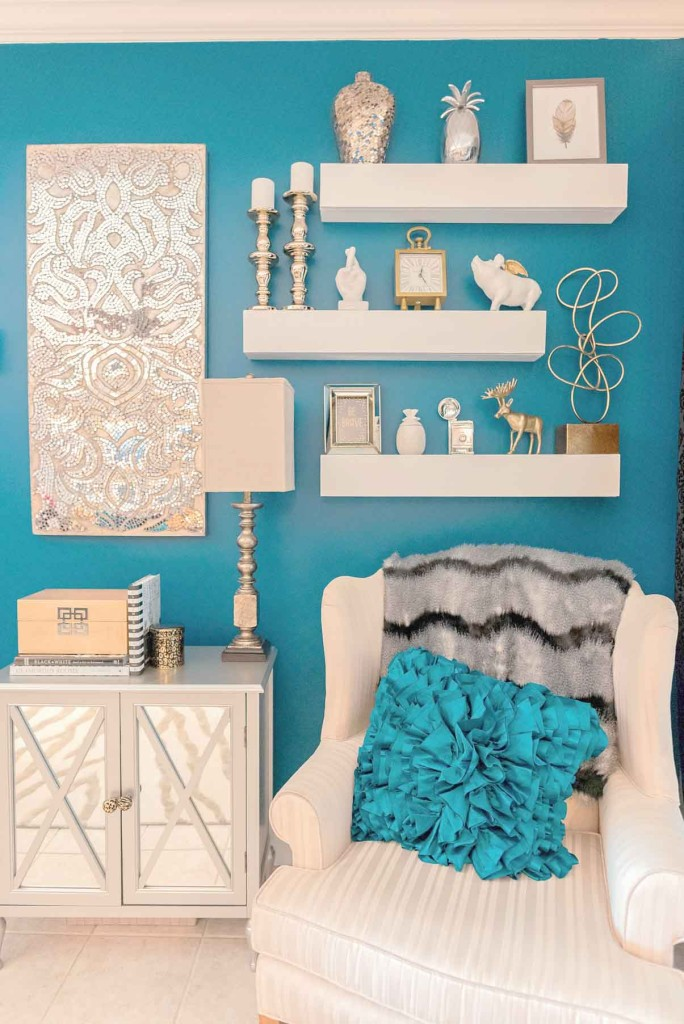 Decorating the shelves - 10 tips - Glittered with Design blog