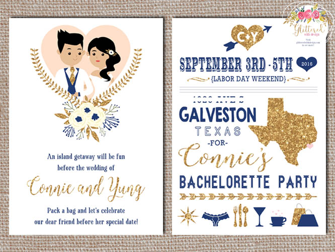 Galveston Bachelorette Party Invitation