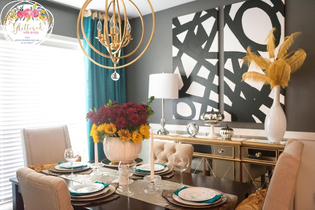 Glittered with Design Blog - Breakfast Room Makeover Reveal