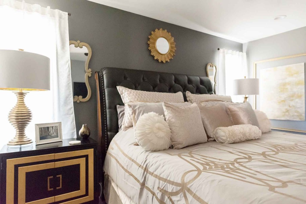 Master Bedroom Makeover - Glittered with Design