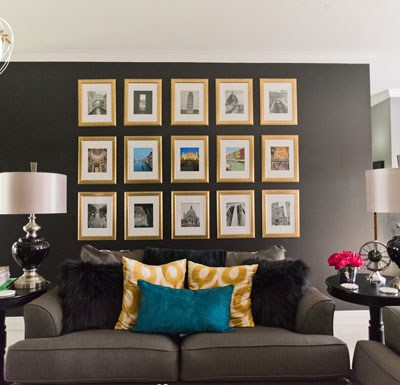 Black Walls Rejoice: Living Room Makeover