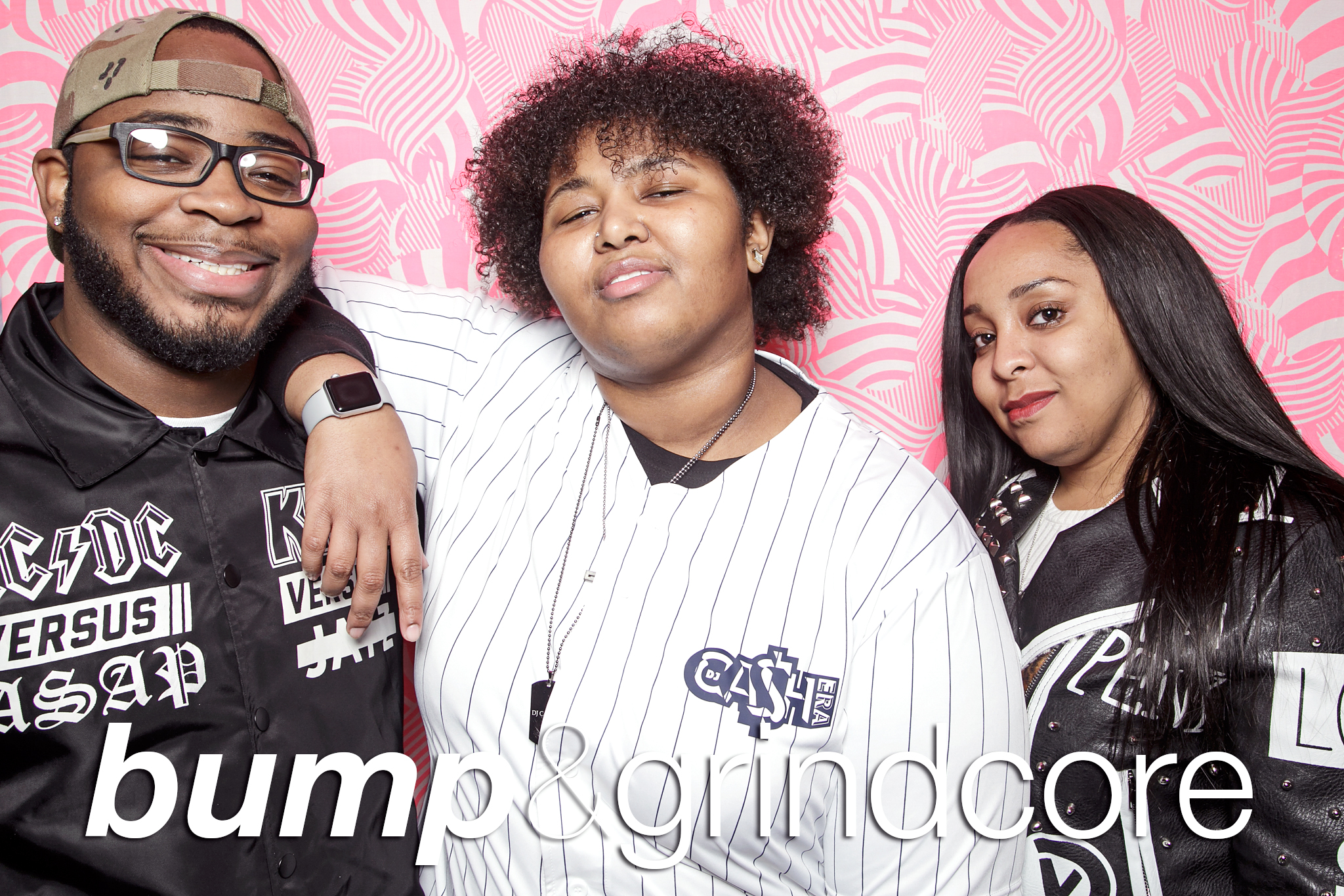 glitterguts portrait booth photos from bump and grindcore at beauty bar chicago, december 2018