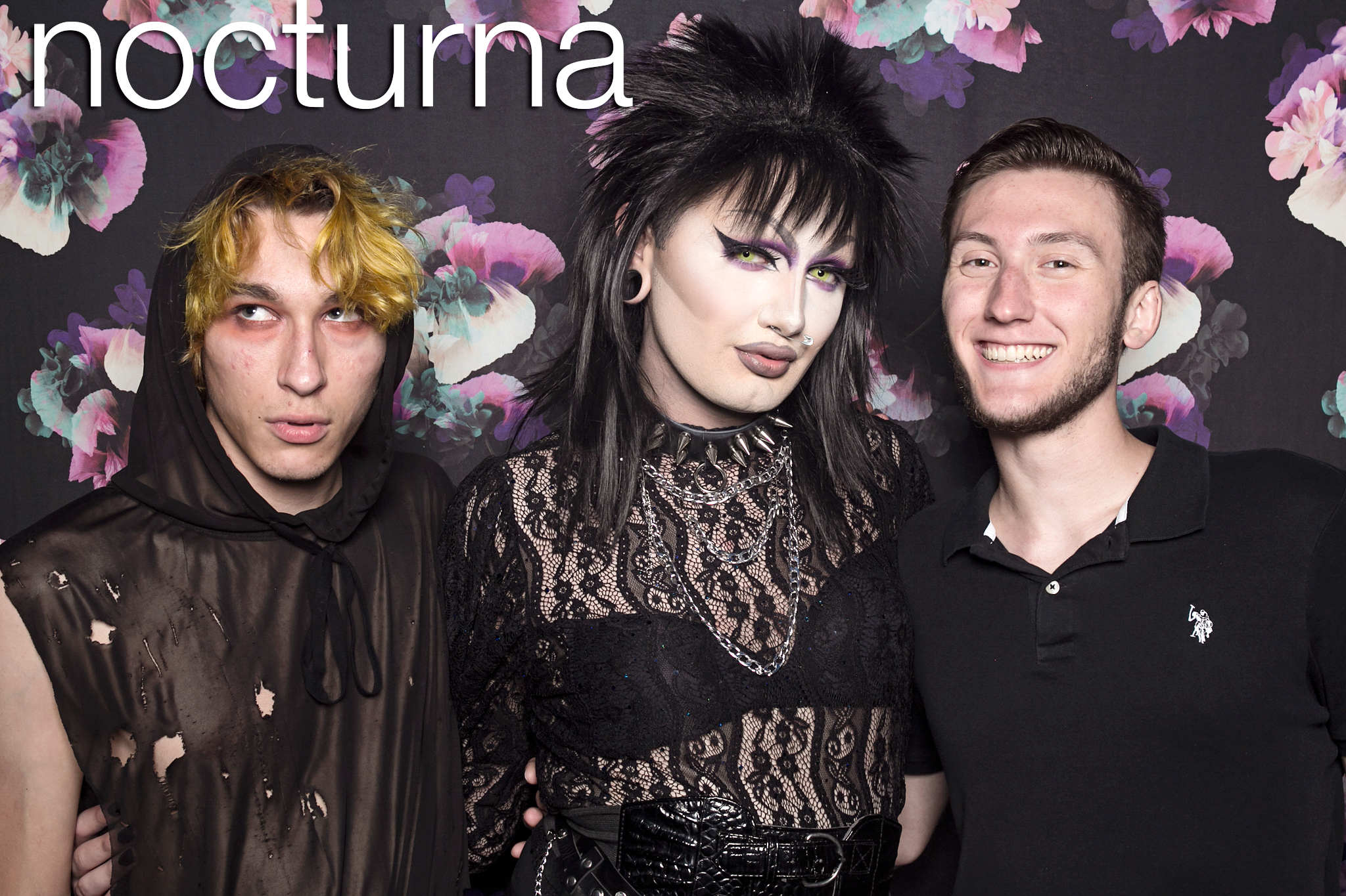 glitterguts portrait booth photos from nocturna at metro chicago, june 2019