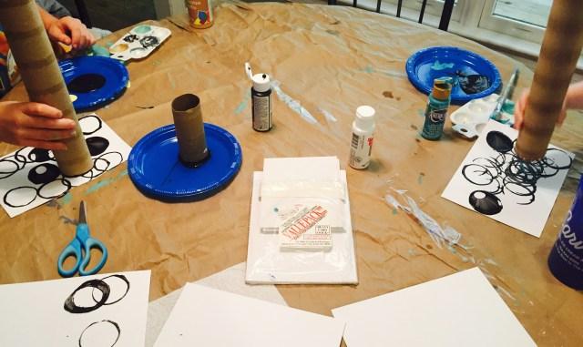 Circle Painting Process