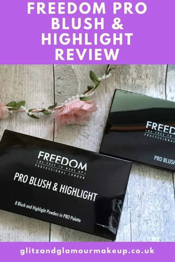 freedom pro blush and highlight bronze and baked review