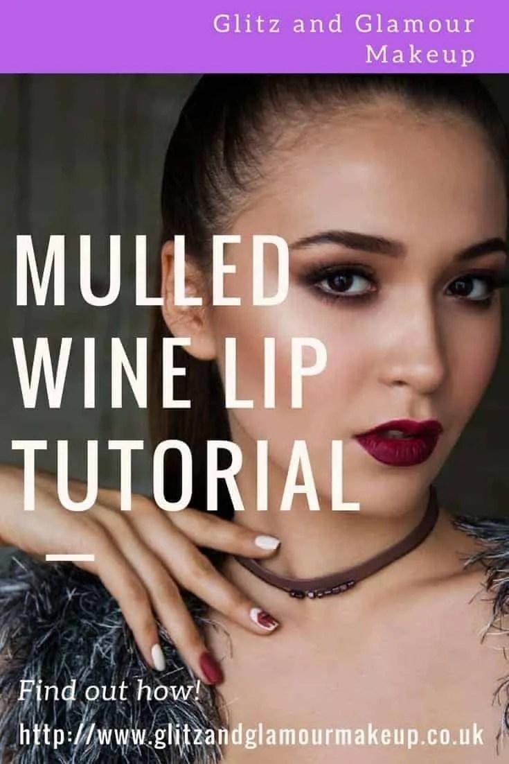 mulled wine lip tutorial