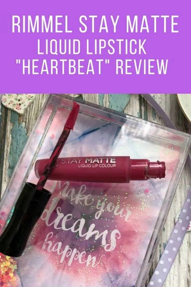 rimmel stay matte liquid lipstick heartbeat review