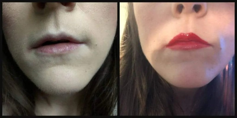 7 days of lipstick maxfactor honey lacquer floral ruby before and after