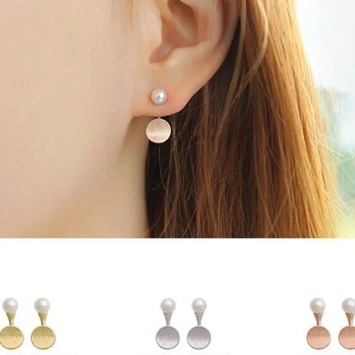 mothers day gift ideas jewellery and beauty attic silver two way earrings with disc and pearl