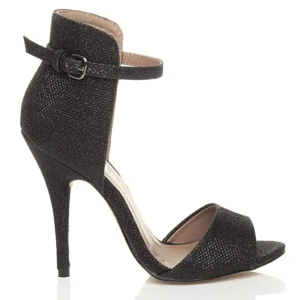 uppersole high heels contrast ankle cuff sandals