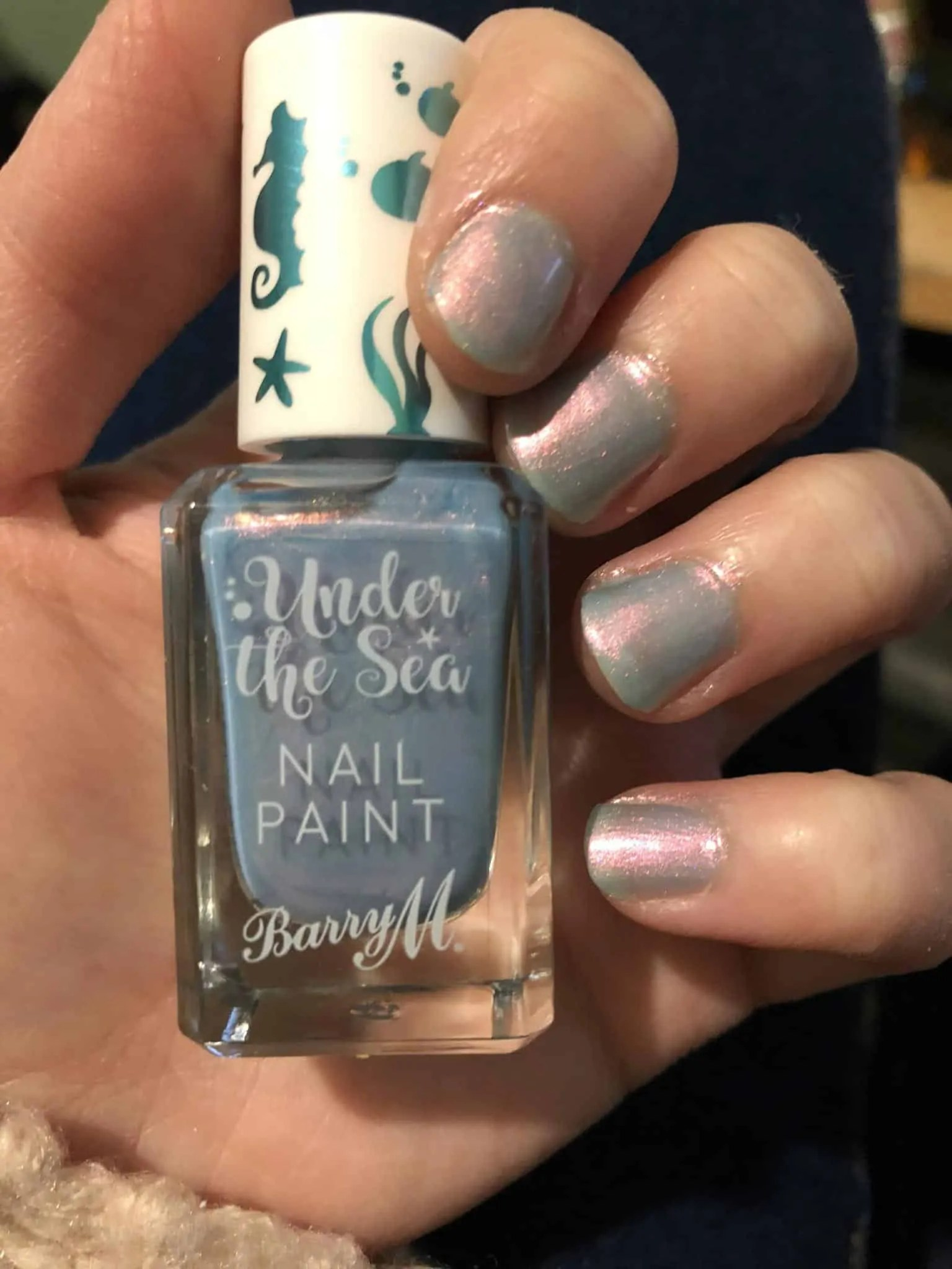 barry m nail varnish under the sea butterfly fish on