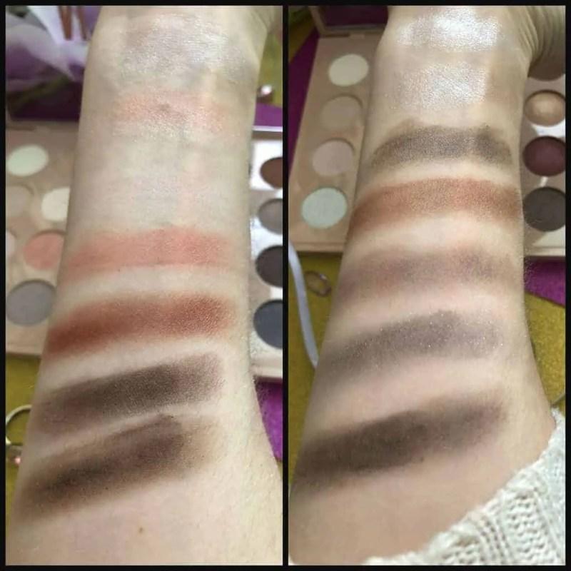 primark ps nudes eyeshadow palette swatches 1
