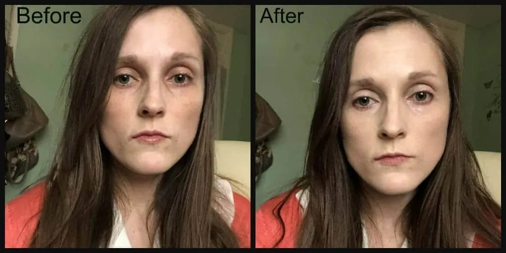 sleek vitality foundation before and after