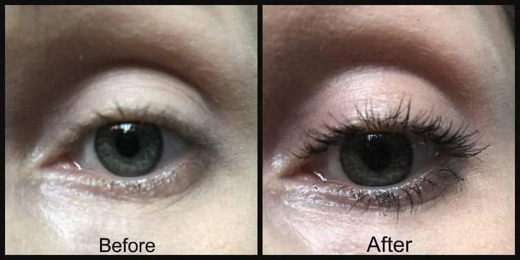 maxfactor dark magic mascara before and after