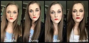 makeup revolution brow tint taupe before and after