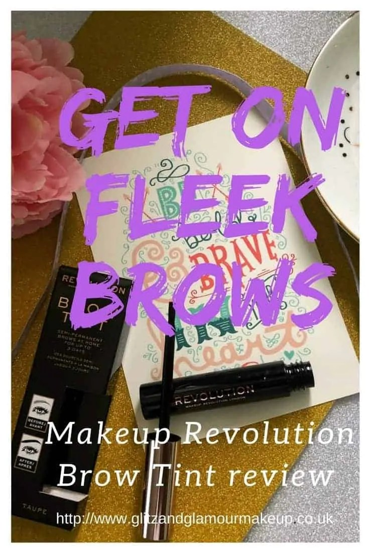 on fleek brows makeup revolution brow tint review