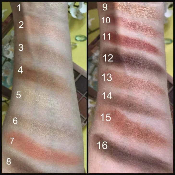 l'oreal cherry my cheri eyeshadow palette swatches