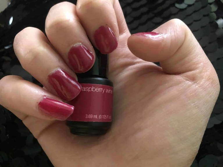 sensationail peeloff strip gel raspberry gel polish