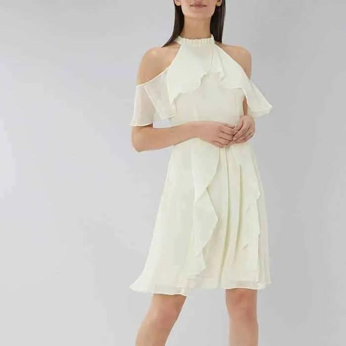 the best floaty dresses for summer coast montana cold shoulder dress