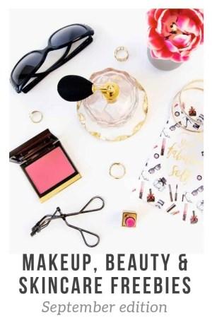makeup beauty and skincare freebies september 2018