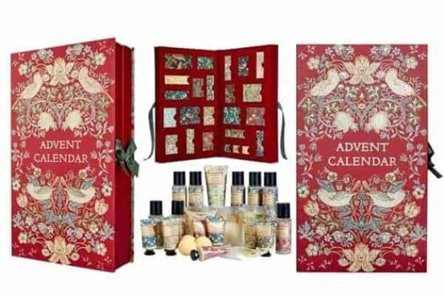 the best value beauty advent calendars £50 or under Morris and co